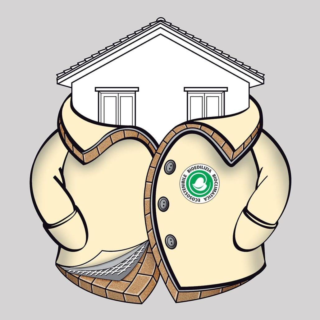 Cappotto con pannelli di Sughero Bioverd