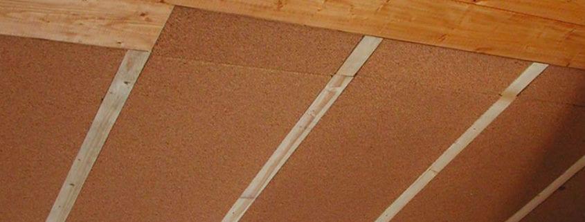 Sottotetto con pannelli in sughero e finitura in legno - Pannelli isolanti per sottotetto ...
