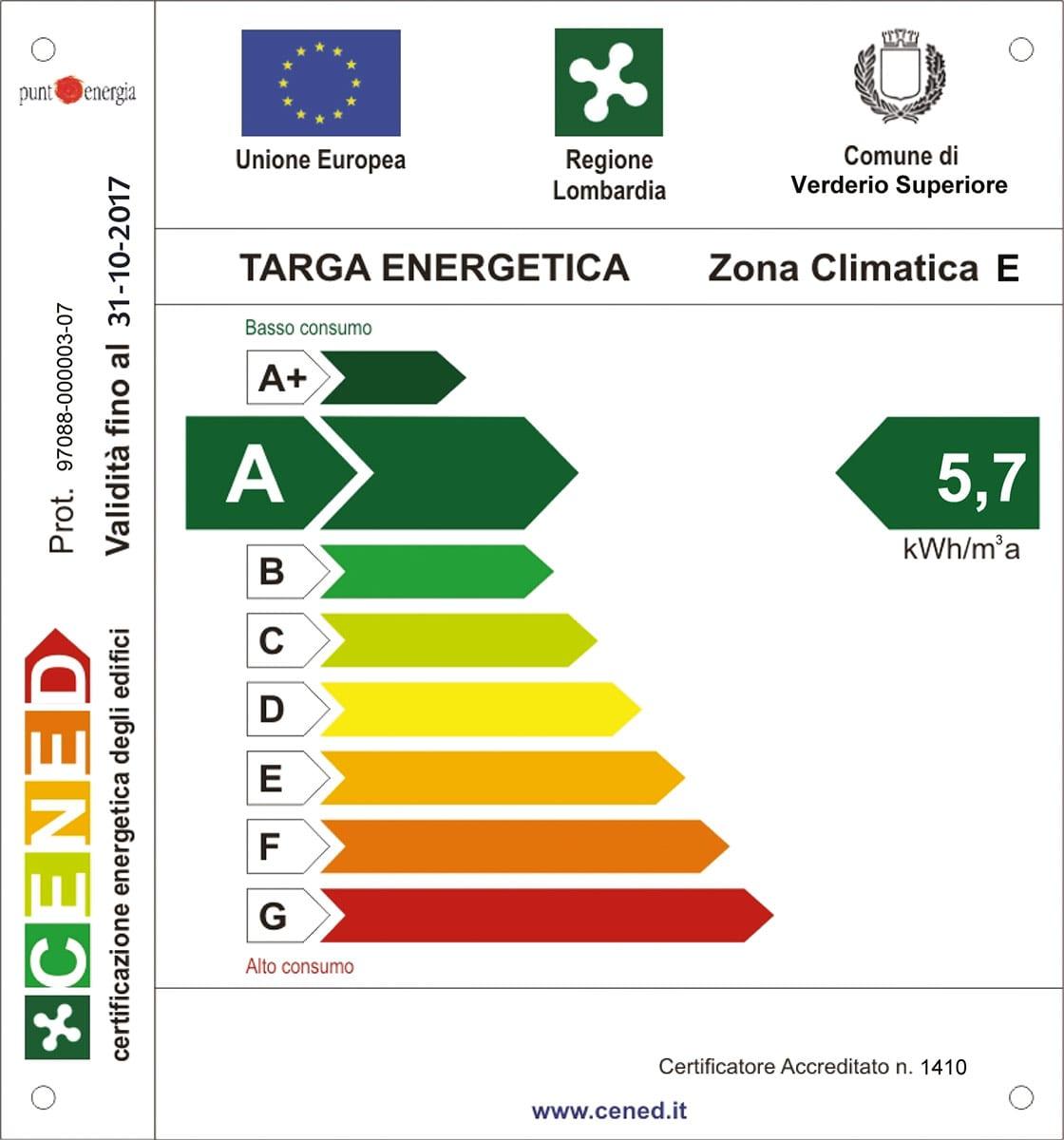 La sede di coverd certificazione energetica in classe a for Classe energetica