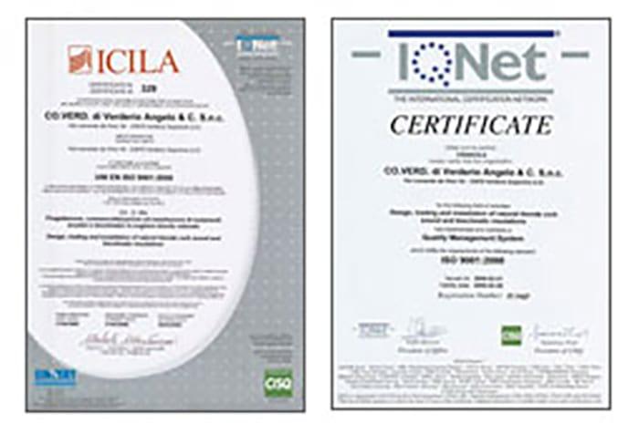 Certificazione Vision 2000 - Coverd