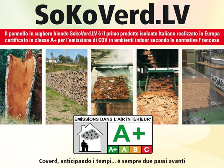 SoKoVerd certificazione in classe A+. Il pannello in sughero biondo SoKoVerd.LV
