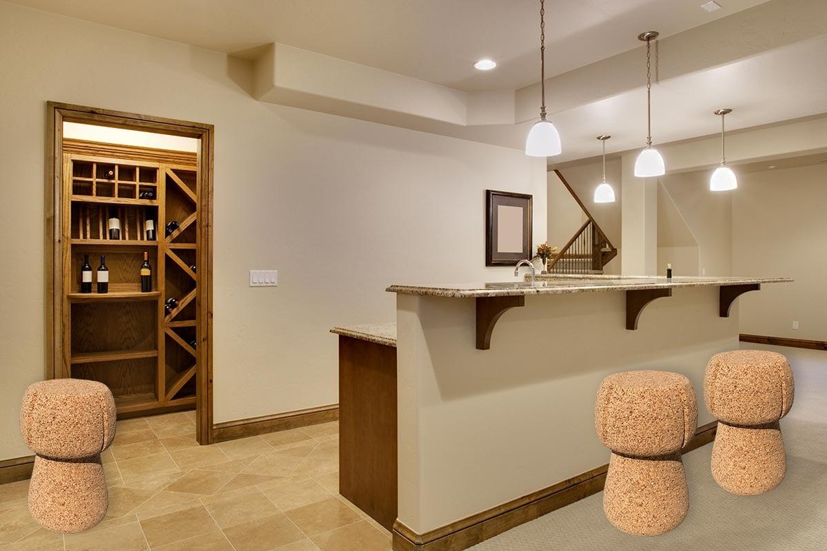 Sugherdrink sgabello in sughero sugherdesign cork design
