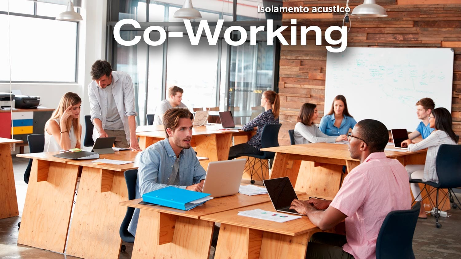 Isolamento acustico Co-Working