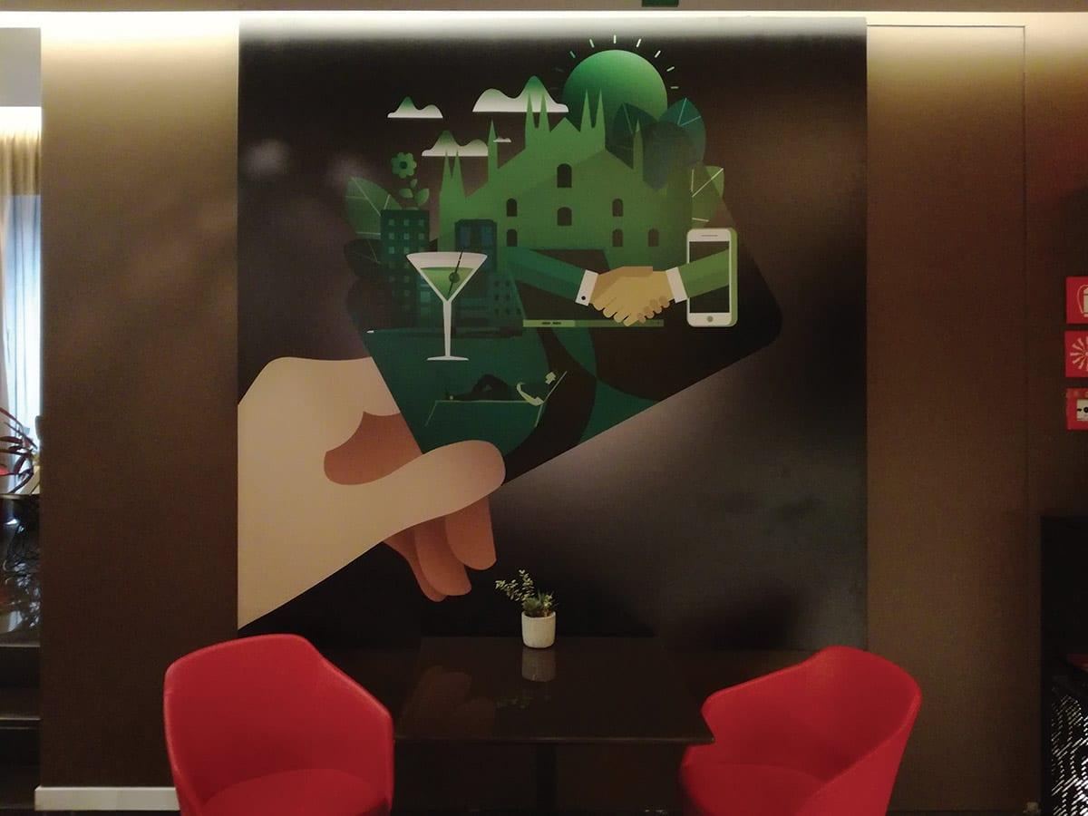 Hotel Milano Scala - Quadro fonoassorbente KoGraf