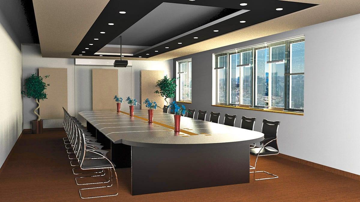 Rendering KoGraf - ufficio sala riunioni