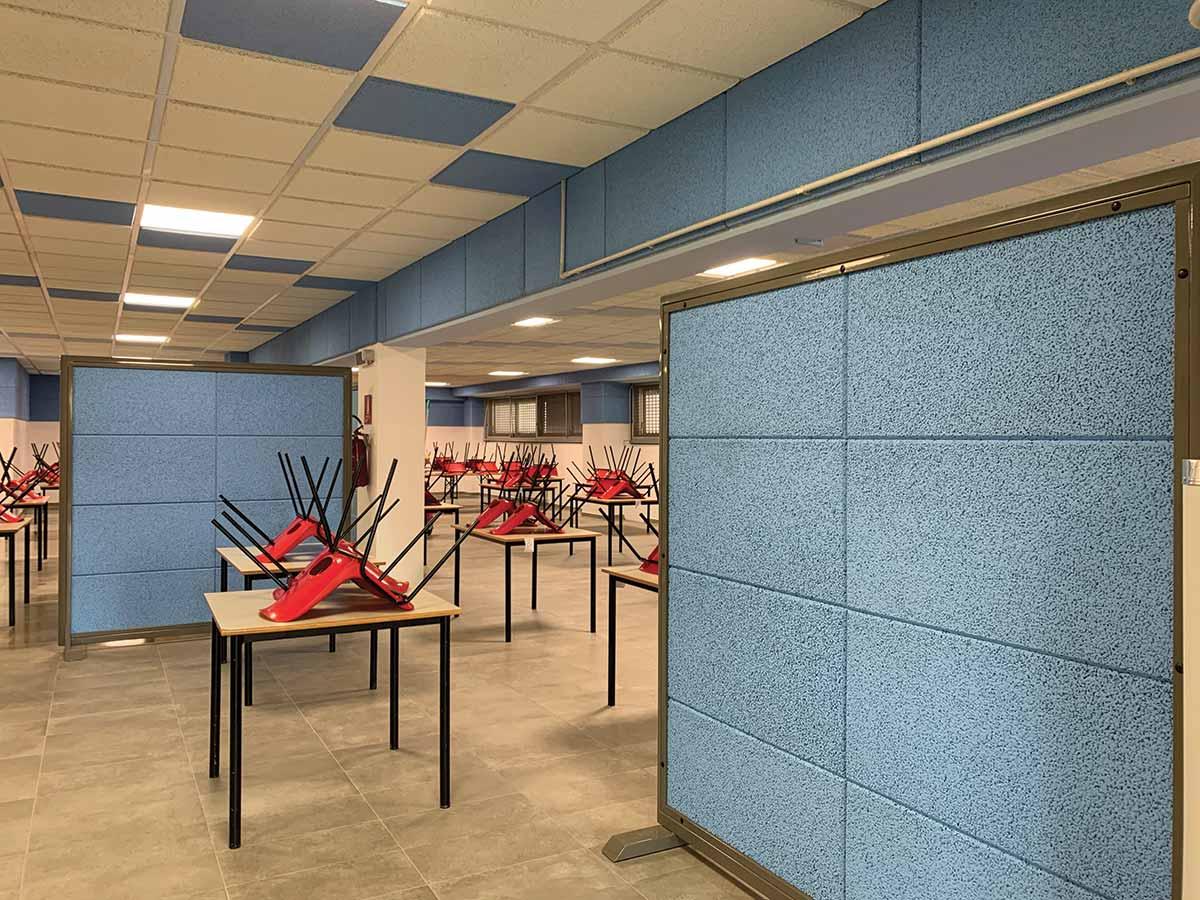 Scuola Elementare Sartirana (PV) - Correzione acustica